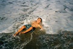 Menino da praia Imagens de Stock Royalty Free