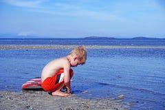 Menino da praia Fotografia de Stock