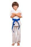 Menino das artes marciais Fotografia de Stock