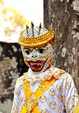 Menino de Angkor-Tom Combodia na máscara Foto de Stock
