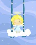Menino de balanço do anjo Foto de Stock Royalty Free