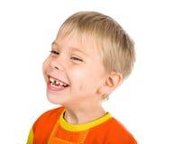 Menino de cinco anos de sorriso feliz Fotos de Stock