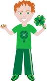 Menino de dia do St Patricks Foto de Stock