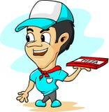 Menino de entrega da pizza Foto de Stock