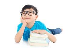 Menino de escola asiático Imagem de Stock Royalty Free