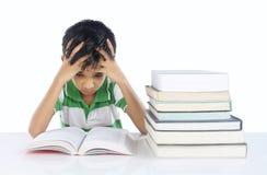 Menino de escola deprimido Foto de Stock Royalty Free