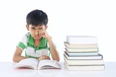 Menino de escola deprimido Fotografia de Stock Royalty Free