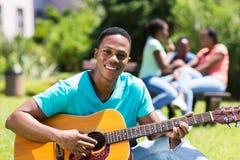 Menino de faculdade africano Fotografia de Stock Royalty Free