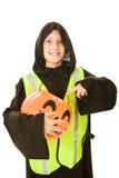 Menino de Halloween com fome imagem de stock royalty free