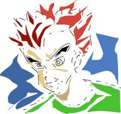Menino de Manga Imagens de Stock Royalty Free