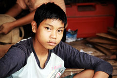 Menino de Myanmar fotografia de stock royalty free
