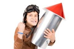 Menino de Rocket Fotografia de Stock Royalty Free