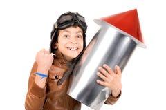 Menino de Rocket Fotos de Stock