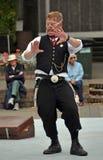 Menino de Rubberband, festival dos Buskers do mundo Fotos de Stock Royalty Free