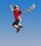 Menino de salto Fotografia de Stock