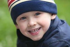 Menino de sorriso Fotografia de Stock