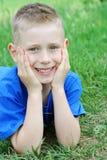 Menino de sorriso Foto de Stock Royalty Free