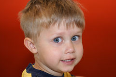 Menino de sorriso da criança Fotografia de Stock