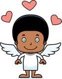 Menino de sorriso do cupido dos desenhos animados Fotos de Stock Royalty Free
