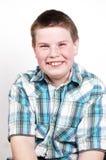 Menino de sorriso feliz fotografia de stock