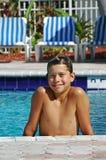 Menino de sorriso na associação Fotos de Stock Royalty Free