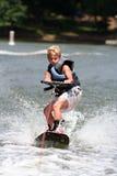Menino de Wakeboarding Imagens de Stock Royalty Free