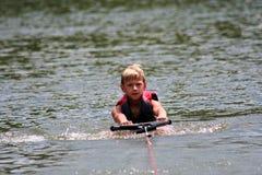 Menino de Wakeboarding Imagem de Stock Royalty Free