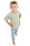 Menino descalço Imagem de Stock