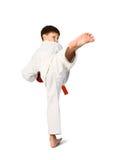 Menino do Aikido fotografia de stock