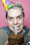 Menino do aniversário com uma vingança Imagens de Stock