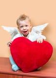 Menino do anjo Fotografia de Stock Royalty Free