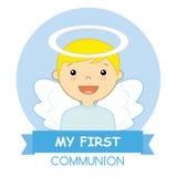 Menino do anjo ilustração stock