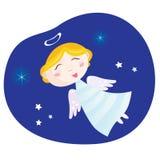 Menino do anjo do Natal ilustração royalty free