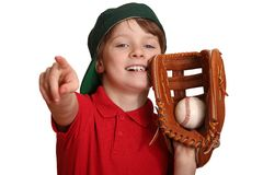 Menino do basebol Imagens de Stock Royalty Free