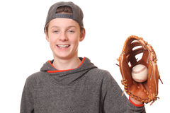 Menino do basebol Foto de Stock