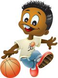 Menino do basquetebol Fotografia de Stock Royalty Free