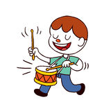 Menino do baterista Foto de Stock