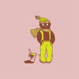 Menino do chocolate dos desenhos animados Fotos de Stock Royalty Free