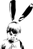 Menino do coelho ilustração royalty free