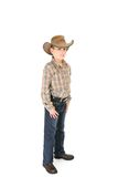 Menino do condado em um chapéu de cowboy fotos de stock royalty free