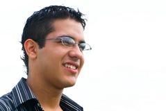 Menino do estudante com vidros Fotografia de Stock Royalty Free