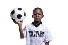 Menino do futebol Fotos de Stock