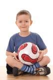 Menino do futebol Fotografia de Stock Royalty Free