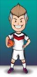Menino do futebol de Alemanha imagens de stock royalty free