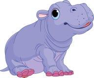 Menino do hipopótamo do bebê dos desenhos animados Imagens de Stock
