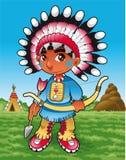 Menino do Indian do bebê ilustração royalty free