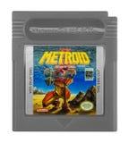 Menino do jogo de Metroid II Nintendo imagens de stock royalty free