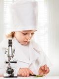 Menino do microscópio Imagem de Stock