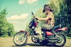 Menino do motociclista Imagem de Stock