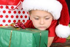 Menino do Natal Fotografia de Stock Royalty Free